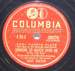 Eddy Duchin: Someone to Watch Over Me / The Man I Love - 78 rpm Record