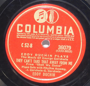 Eddy Duchin: They Can't Take That Away from Me / Summertime - 78 rpm Record