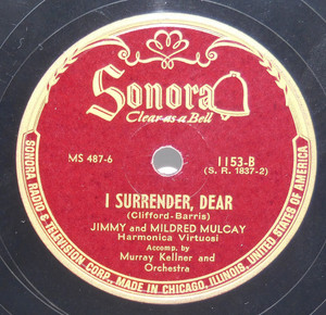 Jimmy & Mildred Mulcay: I Surrender, Dear / St. Louis Blues - 78 rpm Record