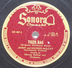 Jimmy & Mildred Mulcay: Malaguena / Tiger Rag - 78 rpm Record