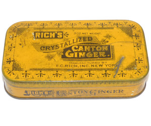 Antique Rich's Crystallized Canton Ginger Advertising Spice Tin E.C. Rich