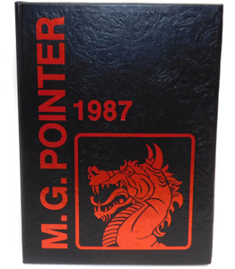 Vintage 1987 The M.G. Pointer - Maple Grove High School Yearbook - Bemus Point, NY