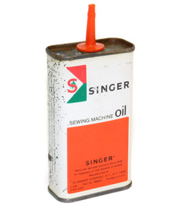 Vintage Singer Sewing Machine Oil 4 Ounce Advertising Tin Can