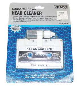 Vintage NOS Kraco Audio Cassette Player Head Cleaner Tape Factory Sealed