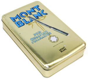 Scarce Mont Blanc Pen Graphics Hachez Chocolate Candy Advertising Tin Germany