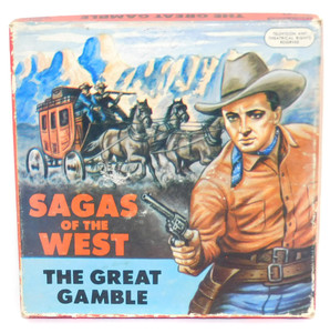 Vintage Castle Films #589 Sagas of the West, The Great Gamble 8mm Film & Box
