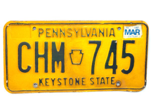 1982 Vintage Pennsylvania State License Plate  - Tag #CHM-745