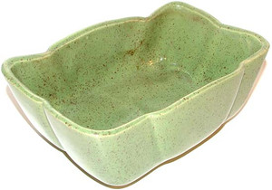 Ungemach Pottery Green With Maroon Speckled Flower Planter