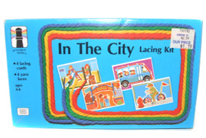 1984 Rainbow Works In the City Lacing Kit Craft Cards in Box