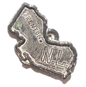 Vintage Plastic New Jersey State Shaped Toy Charm