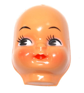 """Vintage NOS Celluloid Plastic Baby Doll Face Head for Cloth Doll or Crafting - 3"""""""