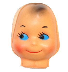 """Vintage NOS Plastic Kewpie Face Doll Head for Cloth Doll or Crafting - 3 3/8"""""""