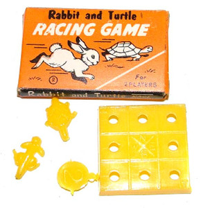 1960's Miniature Rabbit and Turtle Racing Game - 1 inch board game