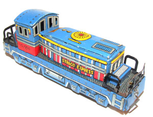 Tin Lithographed Straco Express HO Scale Model Train Engine Locomotive