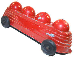 Vintage Lagco Diecast Fire Truck Pull Toy Firetruck