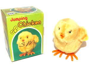 1986 Easter Unlimited Wind-Up Juming Chicken Easter Chick Toy