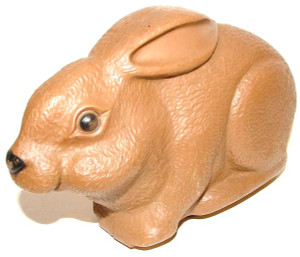 Non-Working Unbranded Plastic Wind-Up Bunny Rabbit Toy