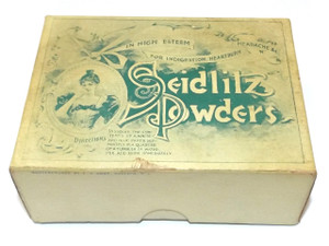 Antique F.N. Burt Seidlitz Powders Original Medicine Box - Buffalo, NY