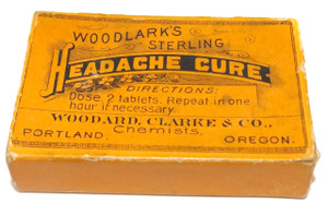 Antique Woodlark's Sterling Headache Cure Medicine Pill Box Woodard, Clarke & Co.
