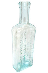Antique Caldwell's Syrup Pepsin Medicine Bottle - Monticello, IL