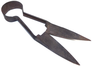 Antique Pair of Signed Lackawanna Steel Sheep Shears Primitive Cattle Farm Tool