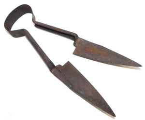 Antique Pair Signed Disston Steel Sheep Shears Primitive Cattle Farm Tool