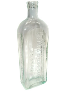 Antique Dr. W.B. Caldwell's Laxative Glass Cork Top Medicine Bottle - Monticello, IL
