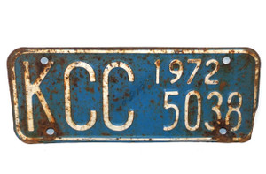 1972 Vintage Kansas Commerce Commission Trailer License Plate  - Tag #KCC 5038