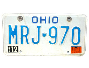 1982 Ohio State License Plate  - Tag #MRJ-970