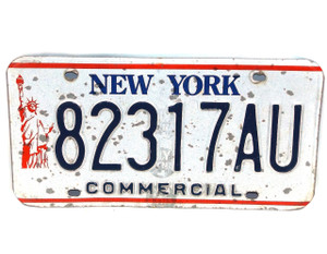 1986-00 New York State Commercial License Plate - Tag #82317AU