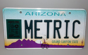 1995 AASHTO-FHWA National Metric Conference Arizona State Commemorative Licnese Plate