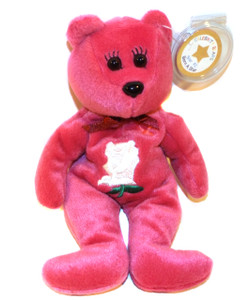 1998 Vintage Celebrity Bears Star #2 Breast Cancer Awareness Beanie Plush Toy