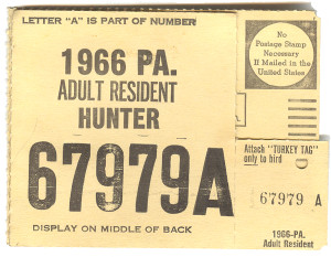 1966 Adult Resident Hunter PA Hunting License - #67979A