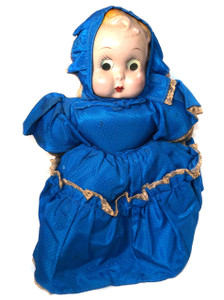 Antique Cloth & Composition Googly Eye Baby Doll Stand-Up Toy