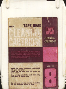 Lebo 8-Track Tape Player Head Cleaner Tape Head Cleaning Cartridge