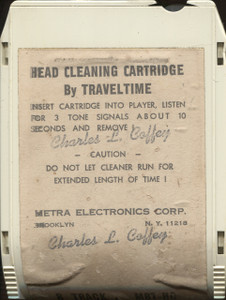 Traveltime 8 Track Player Head Cleaner Cartridge