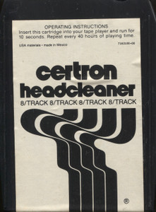 Certron 8 Track Tape Head Cleaning Cartridge