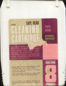 Vintage Lebo Cleaning Cartridge 8 Track Head Cleaner Tape