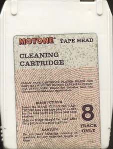 Motone 8 Track Stereo Tape Player Head Cleaning Cartridge