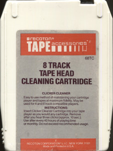Recoton 8 Track Tape Head Cleaning Cartridge