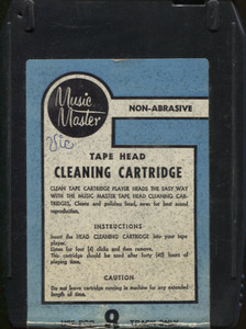 Music Master 8 Track Tape Player Head Cleaner Cartridge