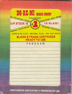 Do-Re-Mi 8 Track Blank 45 Minute Recording Tape