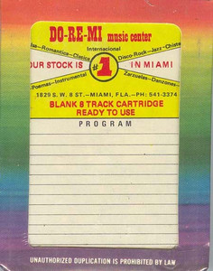 Do-Re-Mi 45 Minute Blank 8 Track Recording Tape