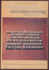 Great American Composers - Part 2 - Two 8 Track Tapes