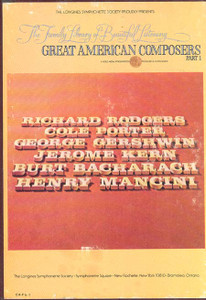 Great American Composers Part 1 The Family Library Of Beautiful Listening Vol. 6 - Two 8 Track Tapes