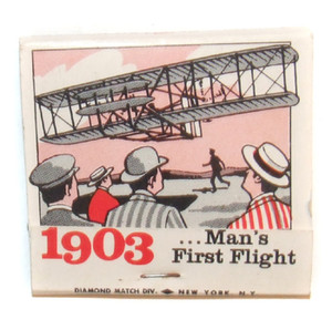 1903 ...Man's First Flight Wright Brothers Airplane Themed Matchbook