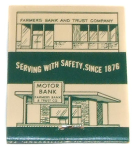 Farmers Bank & Trust Co. of Indiana, PA Vintage Advertising Matchbook