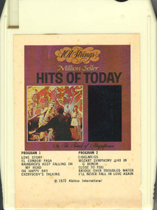 101 STRINGS & JACK DORSEY: Today's Hits / Million Seller Hits of Today Quad 8 Track Tape