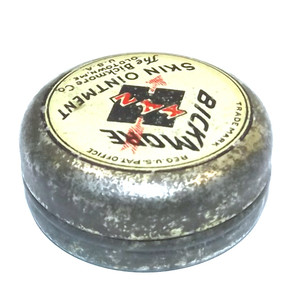 Antique Bickmore XYZ Skin Ointment Salve Advertising Tin w/ Contents - Old Town, ME