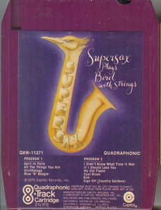 SUPERSAX  Plays Bird With Strings Rare Quad 8 Track Tape